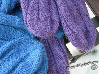 Носки на двух спицах-3