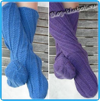 Носки на двух спицах
