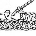 Вогнутый столбик крючком