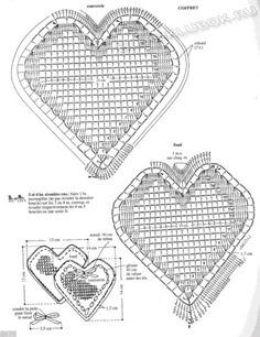Вязаное сердце крючком-12