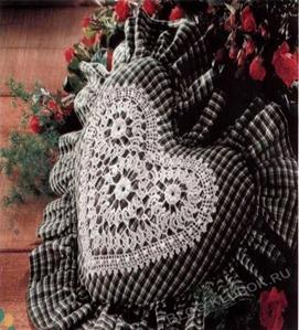 Вязаное сердце крючком-13