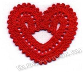 Вязаное сердце крючком-15