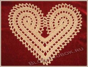 Вязаное сердце крючком-17