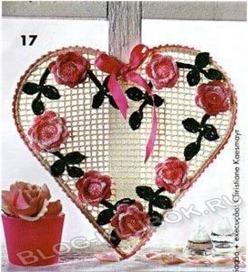 Вязаное сердце крючком-21