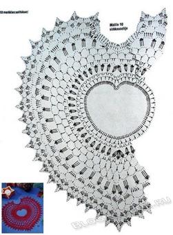 Вязаное сердце крючком-26