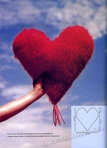 Вязаное сердце крючком-27