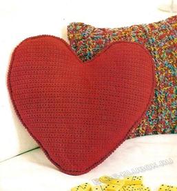 Вязаное сердце крючком-29