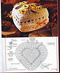 Вязаное сердце крючком-2