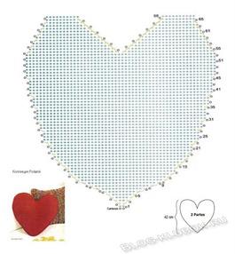 Вязаное сердце крючком-30