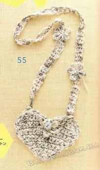 Вязаное сердце крючком-31