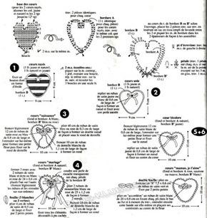 Вязаное сердце крючком-34