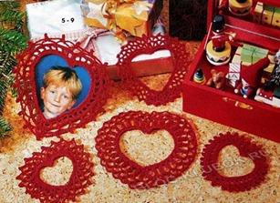 Вязаное сердце крючком-35
