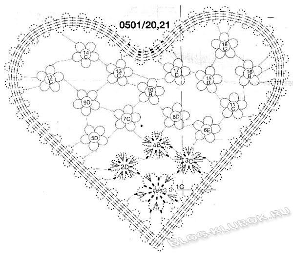 Вязаное сердце крючком-4