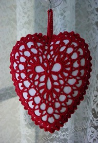 Вязаное сердце крючком-42