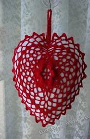 Вязаное сердце крючком-43