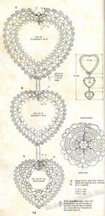 Вязаное сердце крючком-44