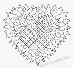 Вязаное сердце крючком-46