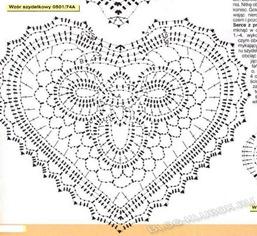 Вязаное сердце крючком-6