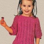 Пуловер детский спицами