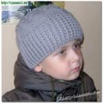 Вязаная крючком шапка для мальчика