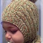 Вязаная шапочка шлем
