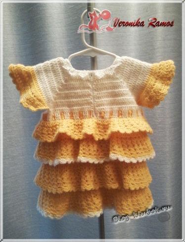 Связать платье для малышки-1