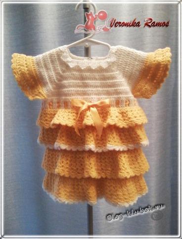 Связать платье для малышки