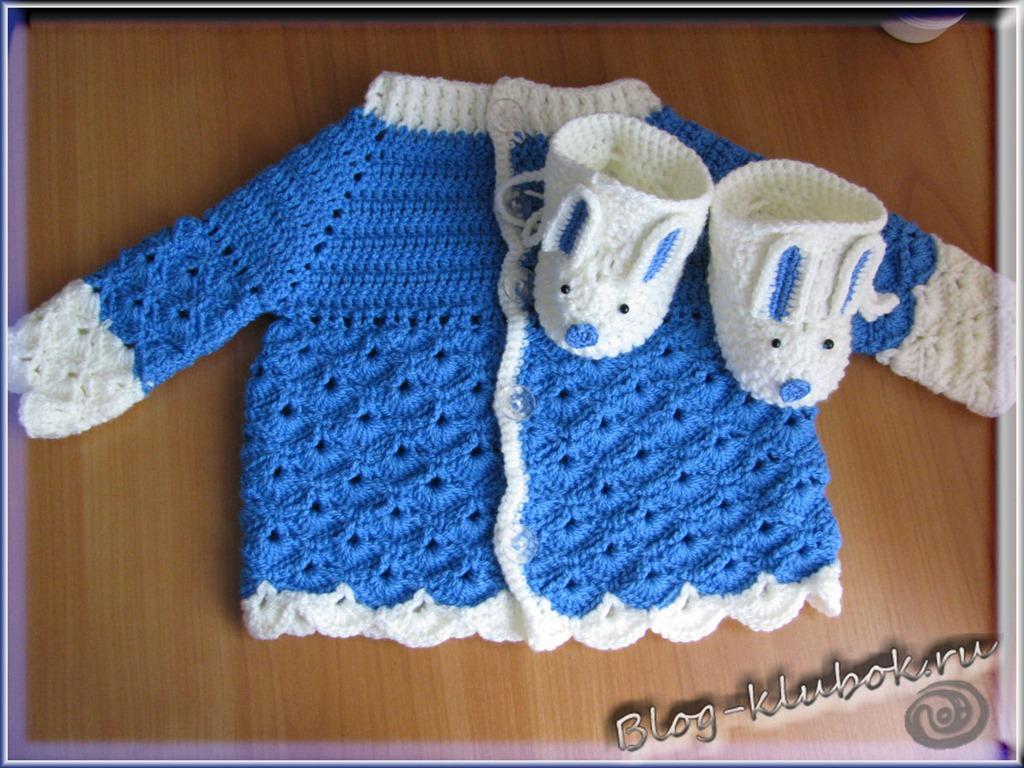 кофты для младенцев вязания