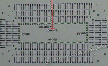 Схема реглан крючком