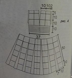 Схема платья из мотивов крючком