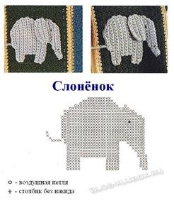Аппликация слоненок-1