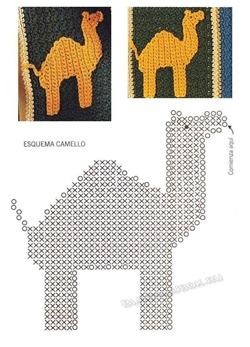 Аппликация верблюд