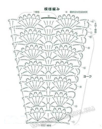 Схема юбочки крючком