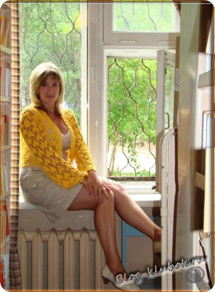 Ажурное вязаное болеро