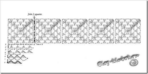 Схема крючком шарфа бесплатно