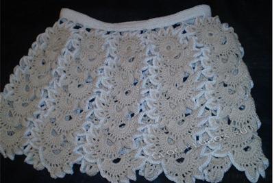 Оригинальная летняя юбка крючком