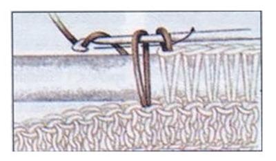 Столбик с вытянутыми петлями