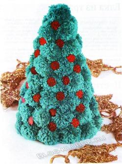 Вязанная елка