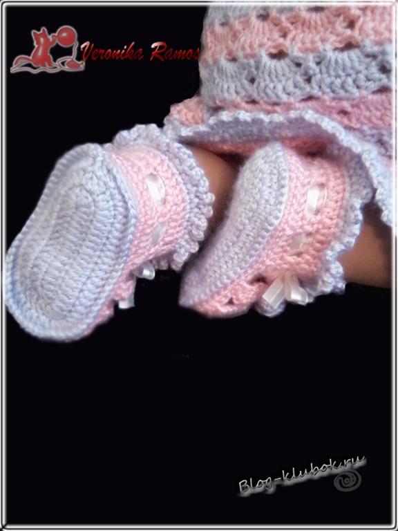 пинетки сандалики спицами вязание крючком