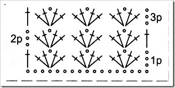 Шарф схема вязания крючком