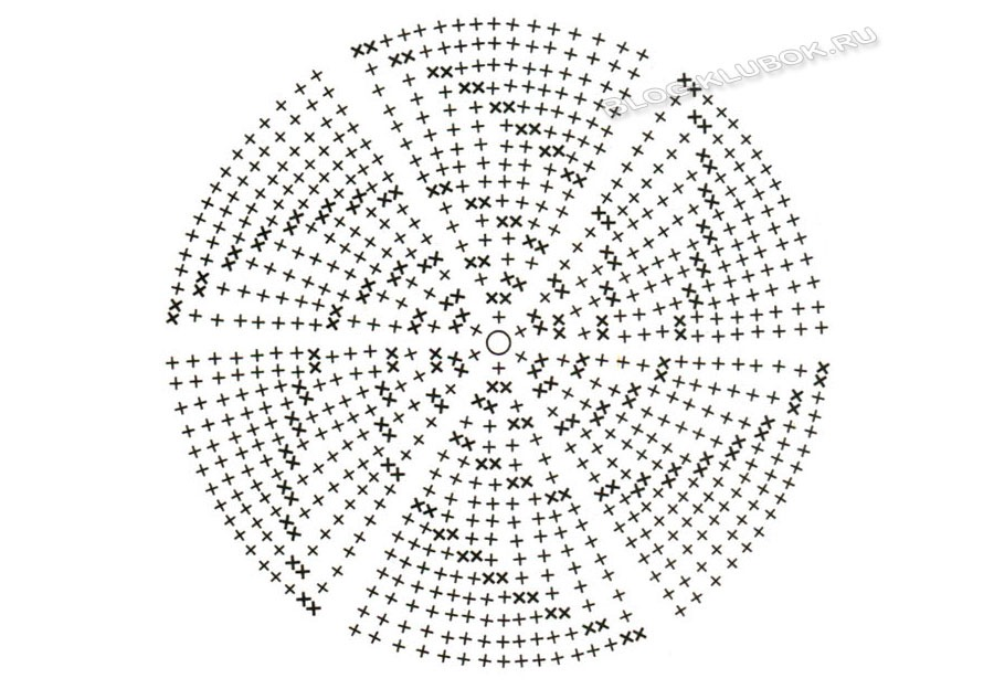 Схема теплой шапочки крючком.