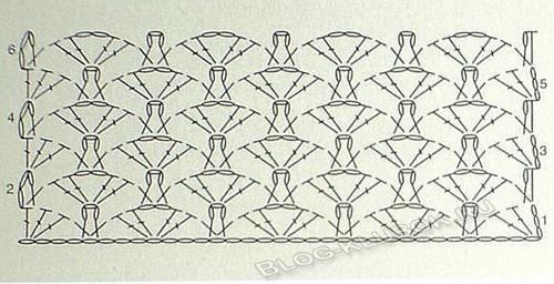 Схема вязания сарафана для девочки-1