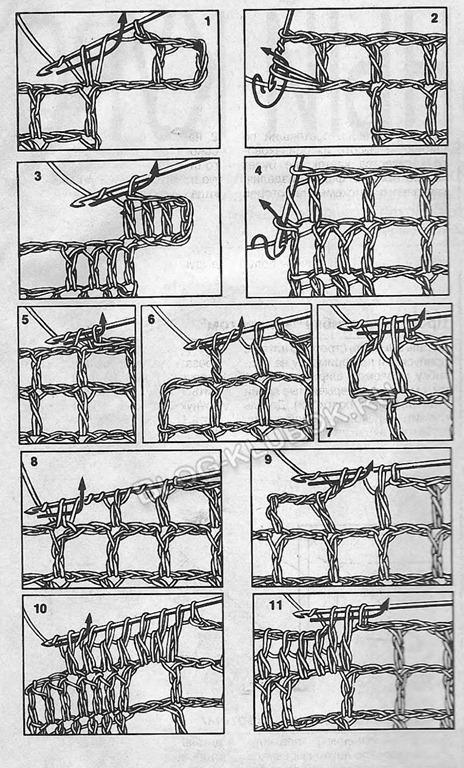 Уроки филейного вязания