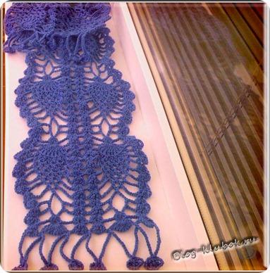 Схема ажурного шарфика крючком