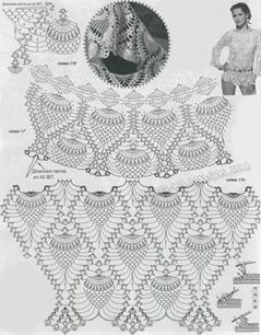 Ажурная туника крючком схема