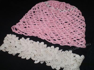 Ажурная шапочка для девочки-4