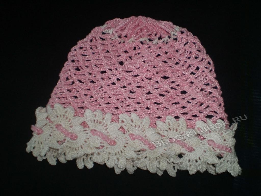 вязание ажурной шапочки для девочки