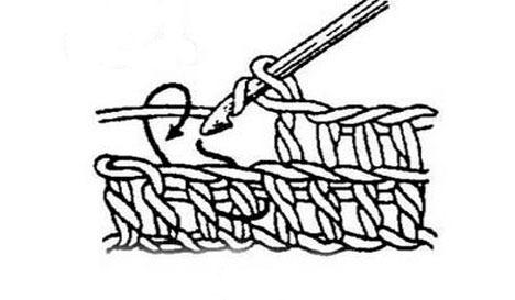 Выпуклый столбик Вязание крючком.
