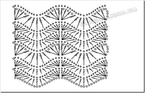 Схема летней туники крючком
