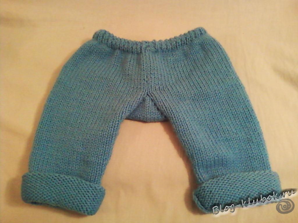 Вязание штанишек с ластовицей